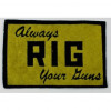Collectable Sport Patch: Rig Gun Care Products